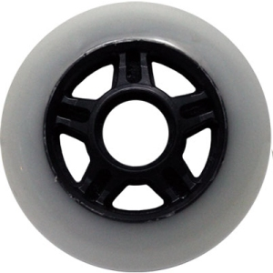 Blank Inline Wheel White and Black 80mm 83a 5 Spoke Inline Wheel