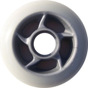 Blank Inline Wheel White and Silver 80mm 85a Inline Wheel