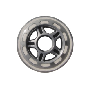Blank Inline Wheel Clear and Silver 82mm 82a Inline Wheel