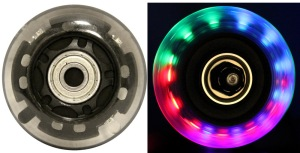 LED Inline Wheel Clear 76mm 82a Inline Wheel with Bearings