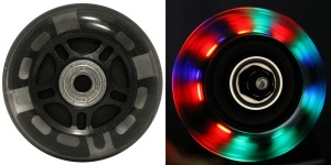 LED Inline Wheel Black 64mm 82a Inline Wheel with Bearings