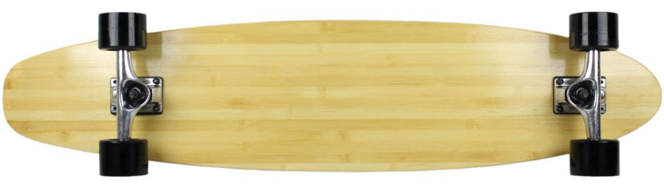 "Moose 40"" Bamboo Kicktail Longboard Complete (Bottom)"