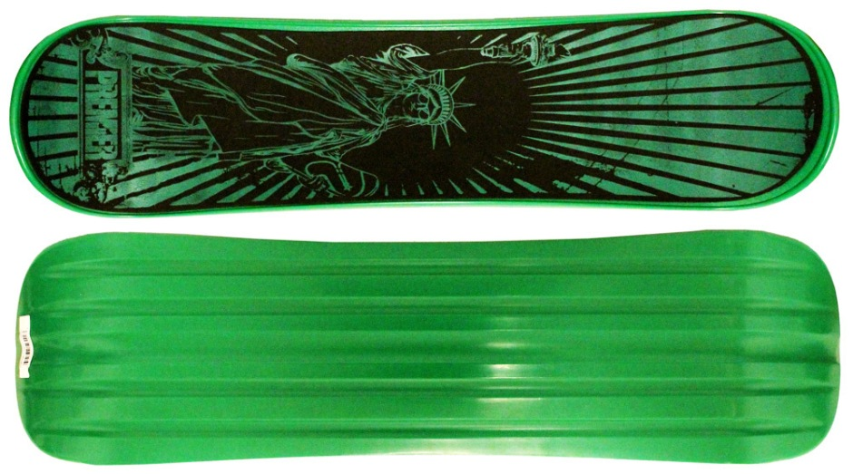 "Premier 38"" Mr. Liberty Green Snowskate (Top and Bottom)"