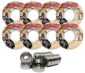 Senate Wheels 55mm 88a Inline Wheel 8-Pack with Bearings