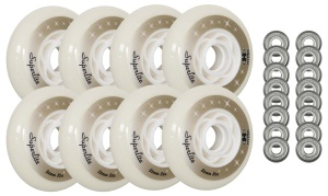 Hyper Wheels - 84mm 82a Superlite Inline Wheels 8-Pack With Bearings