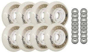 Hyper Wheels - 84mm 82a Superlite Inline Wheels 8-Pack With Bearings