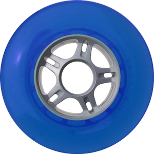 Blank Scooter Wheel 100mm Blue and Grey Scooter Wheel