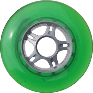 Blank Scooter Wheel 100mm Green and Grey Scooter Wheel