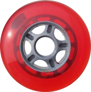 Blank Scooter Wheel 100mm Red and Grey Scooter Wheel