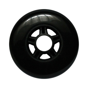 Blank 100mm 88a Scooter Wheel Black and Black 5 Spoke Hub Scooter Wheel