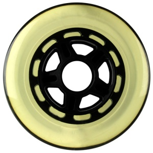 Blank 100mm 88a Scooter Wheel Clear and Black 5 Spoke Hub Scooter Wheel