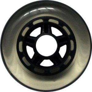 Blank 100mm 88a Scooter Wheel Clear and Purple 5 Spoke Hub Scooter Wheel