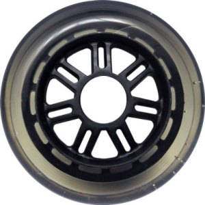 Blank 100mm 88a Scooter Wheel Clear and Black 7 Spoke Hub Scooter Wheel