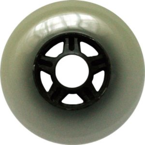 Blank 100mm 88a Scooter Wheel Cloudy and Black 5 Spoke Hub Scooter Wheel