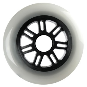Blank 100mm 88a Scooter Wheel Cloudy and Black 7 Spoke Hub Scooter Wheel