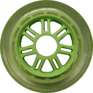 Blank 100mm 88a Scooter Wheel Clear and Green 7 Spoke Hub Scooter Wheel