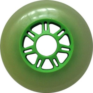 Blank 100mm 88a Scooter Wheel Cloudy and Green 7 Spoke Hub Scooter Wheel