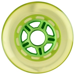 Blank 100mm 88a Scooter Wheel Clear and Green 5 Spoke Hub Scooter Wheel
