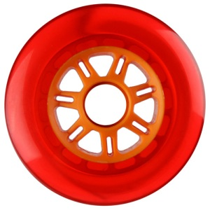 Blank 100mm 88a Scooter Wheel Red and Orange 7 Spoke Hub Scooter Wheel