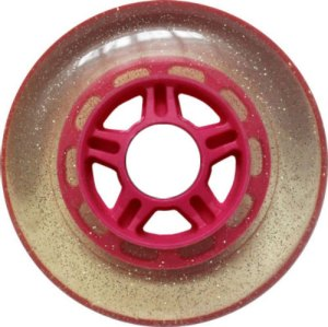 Blank 100mm 88a Scooter Wheel Glitter and Pink 5 Spoke Hub Scooter Wheel