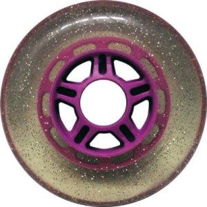 Blank 100mm 88a Scooter Wheel Glitter and Purple 5 Spoke Hub Scooter Wheel