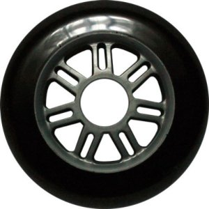 Blank 100mm 88a Scooter Wheel Black and Silver 7 Spoke Hub Scooter Wheel