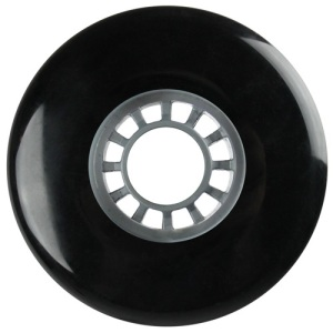 Blank 100mm 88a Scooter Wheel Black and Silver Spider Hub Scooter Wheel