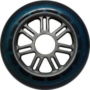 Blank 100mm 88a Scooter Wheel Blue and Silver 7 Spoke Hub Scooter Wheel
