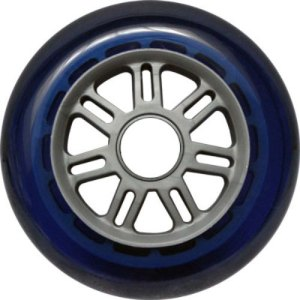 Blank 100mm 88a Scooter Wheel Navy and Silver 7 Spoke Hub Scooter Wheel