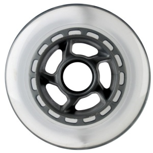 Blank 100mm 88a Scooter Wheel Clear and Silver 6 Spoke Hub Scooter Wheel