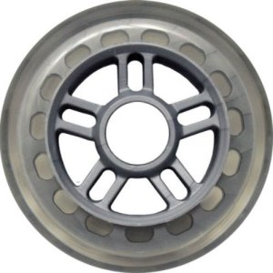 Blank 100mm 88a Scooter Wheel Clear and Silver 5 Double Spoked Hub Scooter Wheel