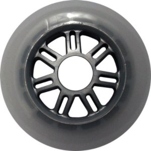 Blank 100mm 88a Scooter Wheel Gray and Silver 7 Spoke Hub Scooter Wheel