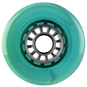 Blank 100mm 88a Scooter Wheel Green and Gray Spider Hub Scooter Wheel