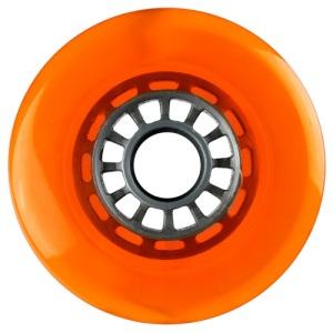 Blank 100mm 88a Scooter Wheel Orange and Silver Spider Hub Scooter Wheel