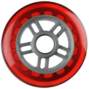 Blank 100mm 88a Scooter Wheel Red and Silver 7 Spoke Hub Scooter Wheel