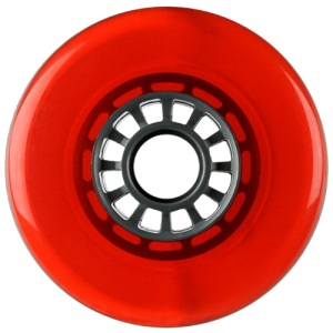 Blank 100mm 88a Scooter Wheel Red and Gray Spider Hub Scooter Wheel