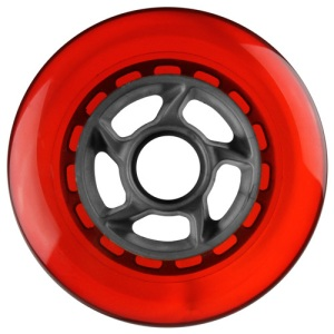 Blank 100mm 88a Scooter Wheel Red and Silver 6 Spoke Hub Scooter Wheel