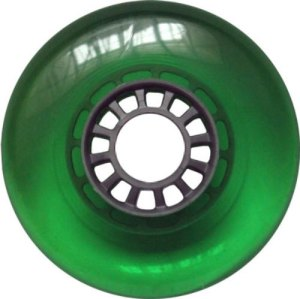 Blank 100mm 88a Scooter Wheel Green and Silver Spider Hub Scooter Wheel