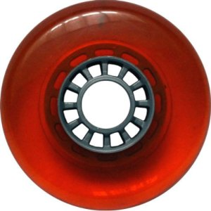 Blank 100mm 88a Scooter Wheel Red and Silver Spider Hub Scooter Wheel