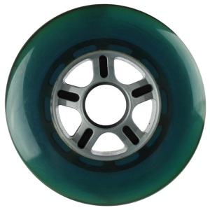 Blank 100mm 88a Scooter Wheel Turquoise and Silver 5 Spoke Hub Scooter Wheel