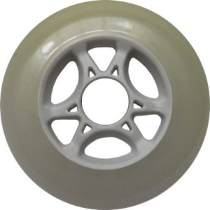 Blank 100mm 88a Scooter Wheel Cloudy and White 6 Spoke Hub Scooter Wheel
